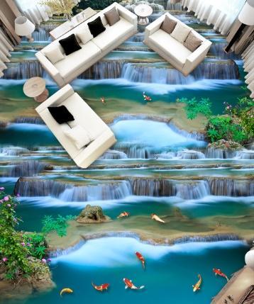 [Kendinden Yapışkanlı] 3D Balık Havuzda 250 Kat Duvar Kağıdı Duvar Duvar Baskı Çıkartması Duvar Resimleri
