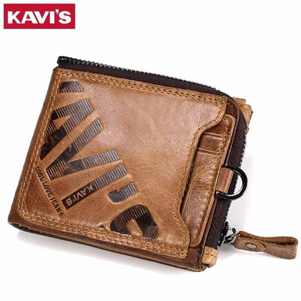 Crazy Horse Genuine Leather Wallet Men Coin Purse Male Cuzdan Walet Portomonee Portfolio Perse Small Pocket Money Bag
