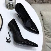 Black Heel Shiny Leather