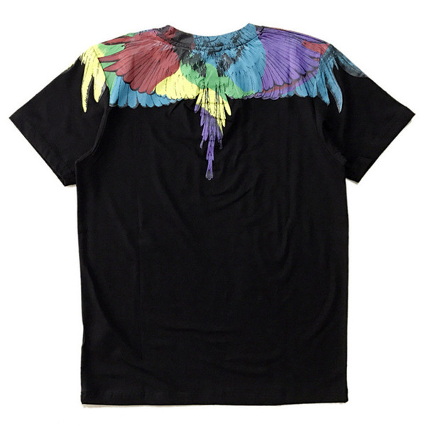 Marcelo Burlon Erkek Tasarımcı T Shirt 19ss Lüks Tasarımcı T Shirt MB Kanatları Baskılı Erkek Kadın Kısa Kollu Tees Boyut M-XXL