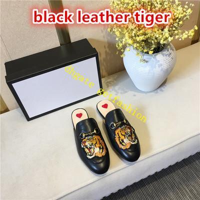 cuir noir avec tigre