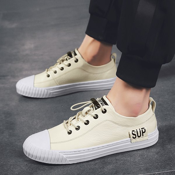 Size154 Çift ayakkabı moda stil erkekler ve kadınlar rahat ayakkabılar eğlence çift düz tabanlı ayakkabılar en kaliteli hakiki deri