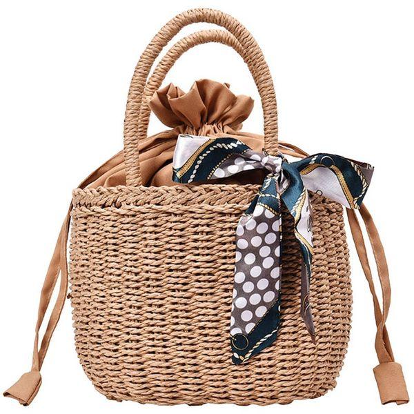 Portafoglio Estate a mano signore della borsa tessuta borsa delle signore imballaggi di piccole dimensioni Rattan Bag