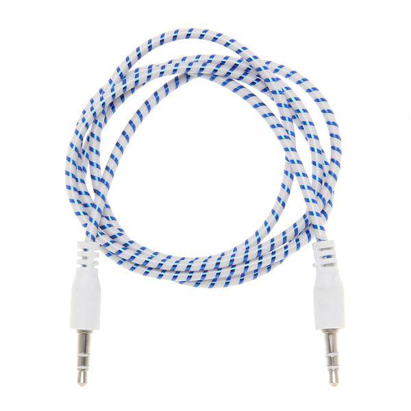 3.5mm Ses Kablosu Plastik halka 3.5 jack jack aux kablosu 1 m Kulaklık Hoparlör AUX Kablosu iphone 5 6 samsung Araba MP3 toptan 500 adet