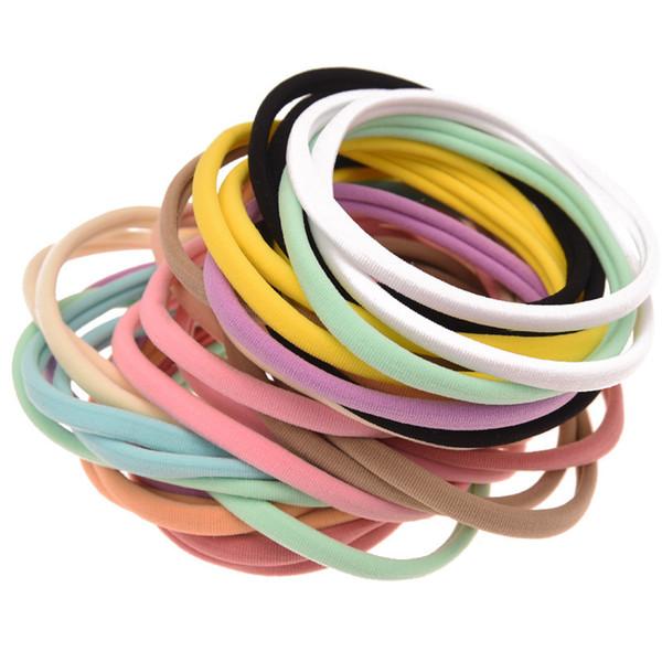 200pcs Elastic Nylon Head Band Boutique Hairband Fashion Ribbon Diy Headwear Accessory Chic Nylon Hairband Hair Accessories J190507