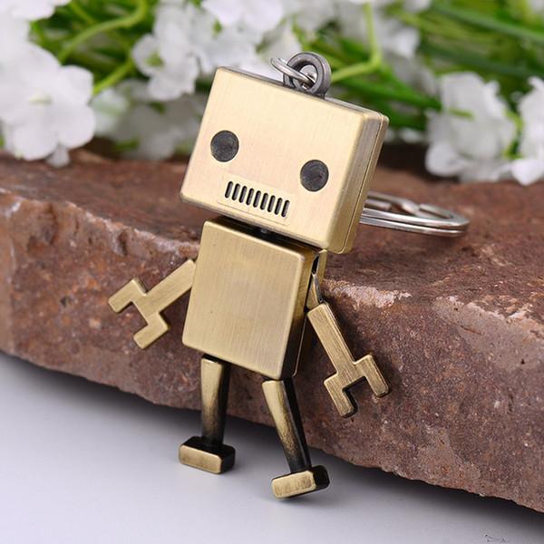 Men Children Accessory Cute Alloy Robot Keychain Creative Jewelry Keyrings Car Key Chains Kids Adult Chaveiro Birthday Present