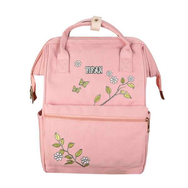 new Fresh Style Women Backpacks Floral Print Bookbags Canvas Backpack School Bag For Girls Rucksack Female Travel Backpack