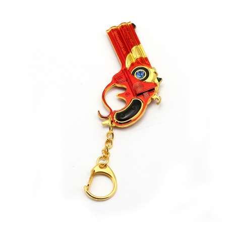 Bayonetta Keychain Metal Alloy Gun Toy Pendant Crystal Key Ring Bag Charm Key Chain llaveros Game Jewelry