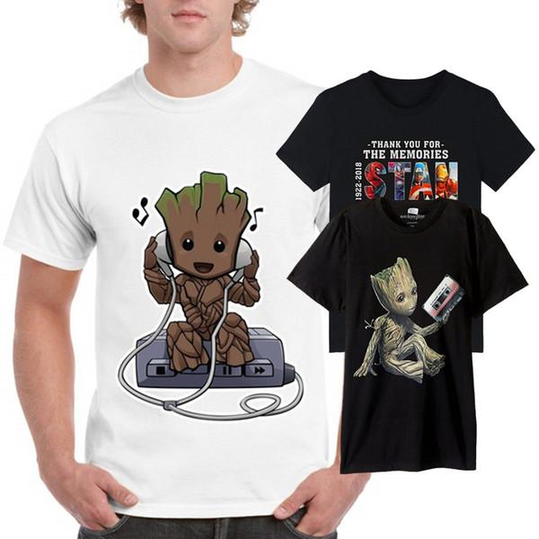 Мужские футболки Super Hero Творческий моды Droids Printed Star T-Shirt Robot Boy новизны Мужская война Дизайнер Футболка Топ с коротким рукавом S-XXXL