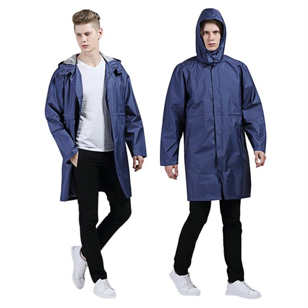 Universal Raincoat for Women Men EVA Long Raincoat Adult Casual Waterproof Hooded Rain Coat Camping Waterproof Rainwear Big Size #319481