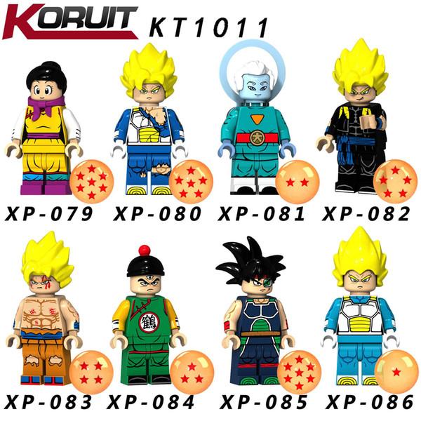DHL Dragon Ball Building Block Set Models Toys 24 Styles 4.5cm Mini Figures Z Son Goku Vegeta Super Saiyan