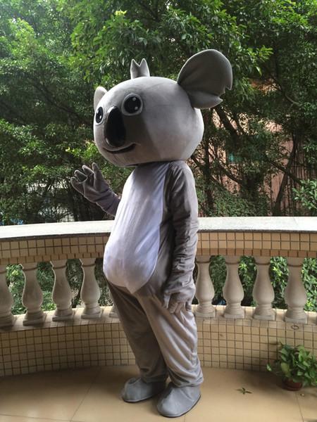 alta qualidade koala bear mascot costume para adultos frete grátis