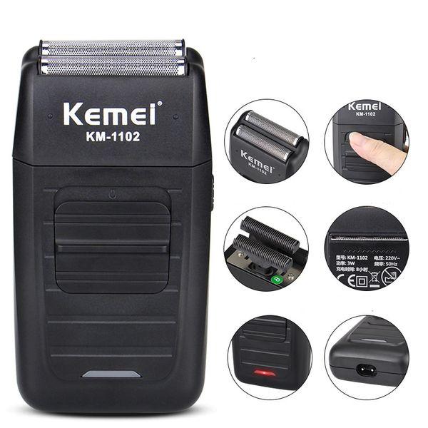 Kemei rasoio elettrico rasoio cura del viso multifunzione rasoio elettrico rasoio da uomo barbiere trimmer ricaricabile 5