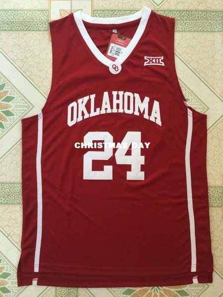 Cheap custom Buddy Hield #24 NCAA Oklahoma College Basketball Jersey Red White Stitched Customize any number name MEN WOMEN YOUTH XS-5XL