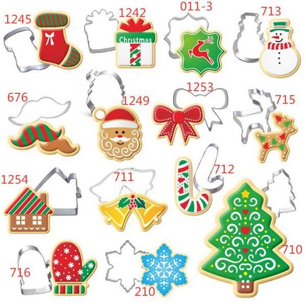 Рождество Cookie Cutter нержавеющей стали вырезать конфеты печенье Mold Готовим инструменты Christmas Theme Metal Резцы Mold Снежинка Snowm RRA2585