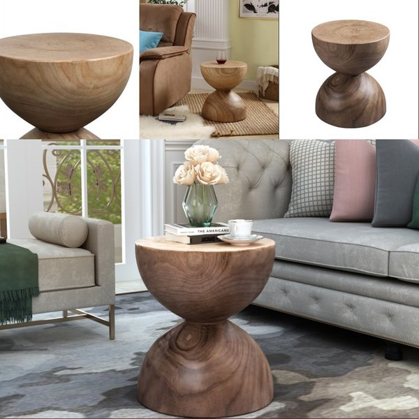 Recommend Good Quality Hourglass shaped End Coffee Table Living Room Decoration US In Stock Fast Shipping