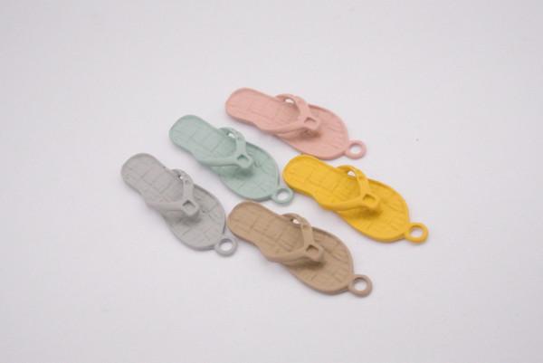 100pcs 36*12mm metal Slipper Flip flop charms Painting Paint color pendants Jewelry Parts Multicolor fashion Handmade Accessories Material