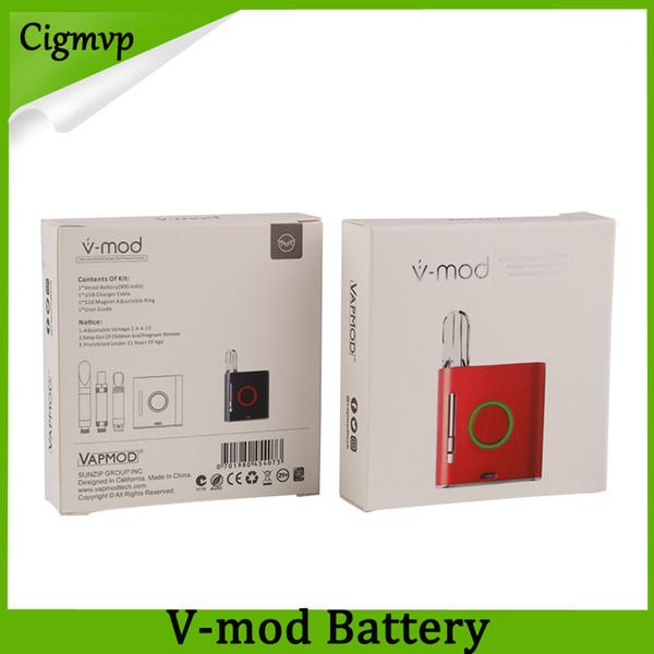 Orijinal VapMod Vmod VV Kutusu Mod 900 mAh Pil Buharlaştırıcı Vape Kalem Değişken Gerilim Modları 510 Konu Kartuş Atomizer Için Kiti