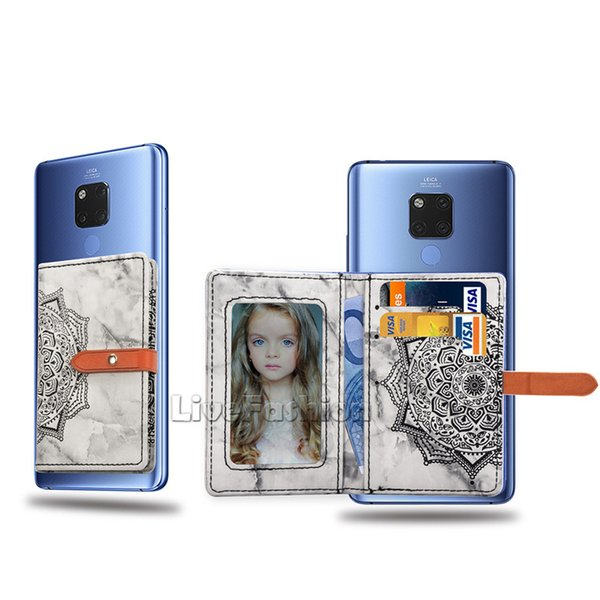 Adesivo tascabile adesivo Stampa datura tasca Porta cellulare elastico Porta carta di credito Porta carte di credito Porta cellulare universale