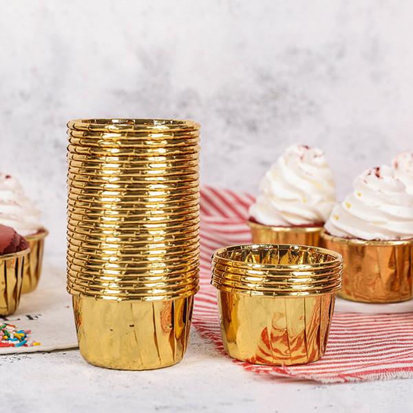 Muffin Petit gâteau Porte-papier moule de cuisson Coupes gâteau Formes de petit gâteau Liner bricolage cuisson décoration Outils 50pcs / set RRA2634