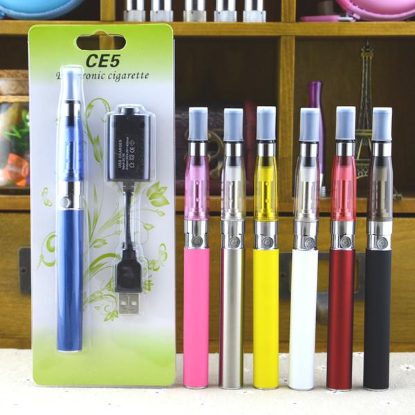 Батарея eGo-T CE5 с зарядным устройством USB 650mAh 900mAh 1100mAh Электронные стартовые наборы для электронных сигарет Vape Pen Vaporizer