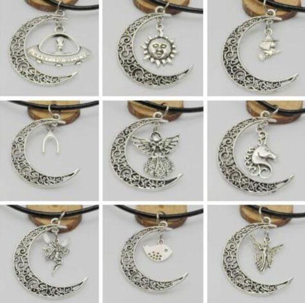 collier lune arbre