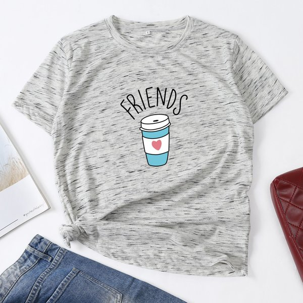 Фабрика Прямых Продаж легкая тонкая футболка Coke of Love Cup с принтом Tide Summer Summer с короткими рукавами из чистого хлопка