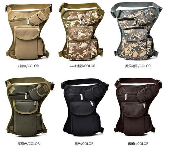 Saco Da cintura Unisex Lona Acampamento Ao Ar Livre Ciclismo Waistpack Sports Leg Bag Sacos de Viagem Ao Ar Livre Hip Sacos 6 Cores 2019