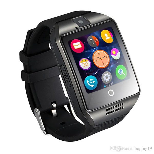 Smart Watch Q18 wireless smart wristbands NFC Remote camera SIM Card Passometer for ios/android samsung htc lg smart watches facebook