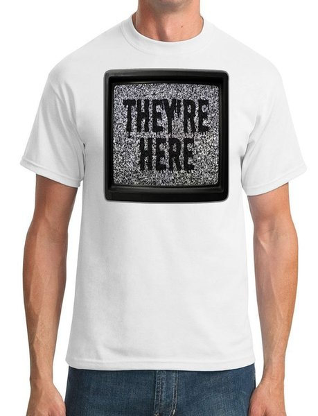 They're Here - Horror Movie - T-Shirt da uomo Divertente spedizione gratuita Top unisex casual
