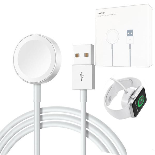 Apple İzle için manyetik Şarj USB Kablosuz Şarj 38mm 42mm Için iWatch Serisi 4 3 2 Orijinal 1 M Sertifikalı İzle Şarj