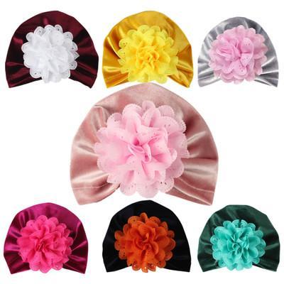 Creuser Fleur Noeud Doux Style Bohème Indien Chapeau Bébé Chapeaux Chapeaux Enfants Chapeaux pour Bébé Filles Accessoires de cheveux 20 pcs