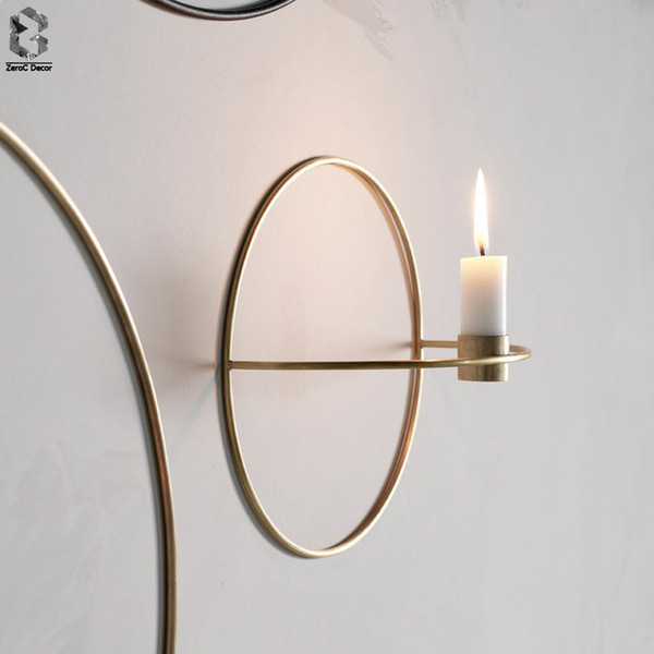 Nordic Candlestick Metal Wall Candle Holder Modern Sconce Matching Home Ornaments Elegant Wedding Christmas Decoration D19011702