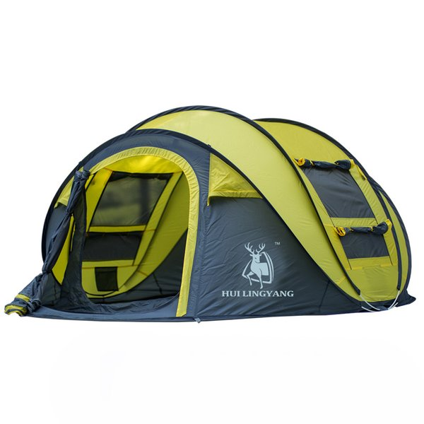 Atmak çadır açık otomatik çadırlar atma pop up su geçirmez kamp yürüyüş çadır su geçirmez büyük aile çadırları