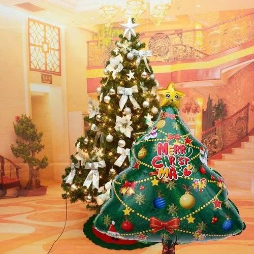Christmas Tree Balloon.New Year Christmas Balloons Party Decoration Merry Christmas Tree Letter Foil Balloon Xmas Kids Toy Inflatable Air Balloon Home Decoration For
