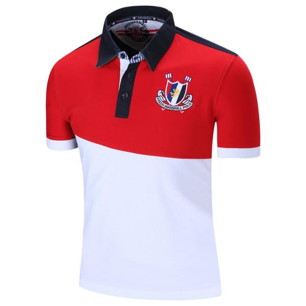 Venda quente Designer de Camisas para Homens Camisas Polo de Verão de Manga Curta Bordado Mens Tops Casuais Juventude Outerwear Roupas 2 Cores M-2XL