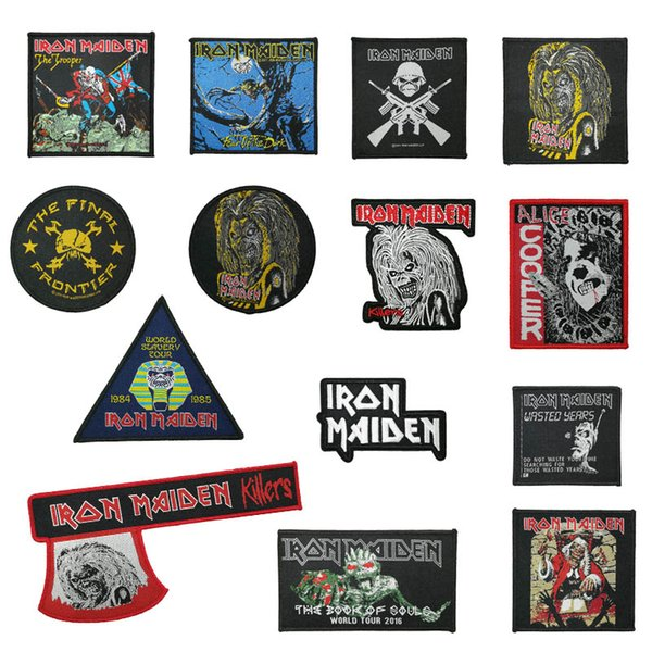 Iron Maiden Killers Face The Trooper il giudice Fear Of The Dark Rock Band musicale Heavy Metal Music Band Woven Iron On Patch