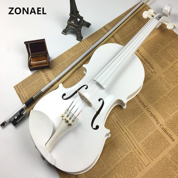top popular Beginner Violin Antique violin 4 4 Handmade Musical Instrument & case,bow basswood v001 2021