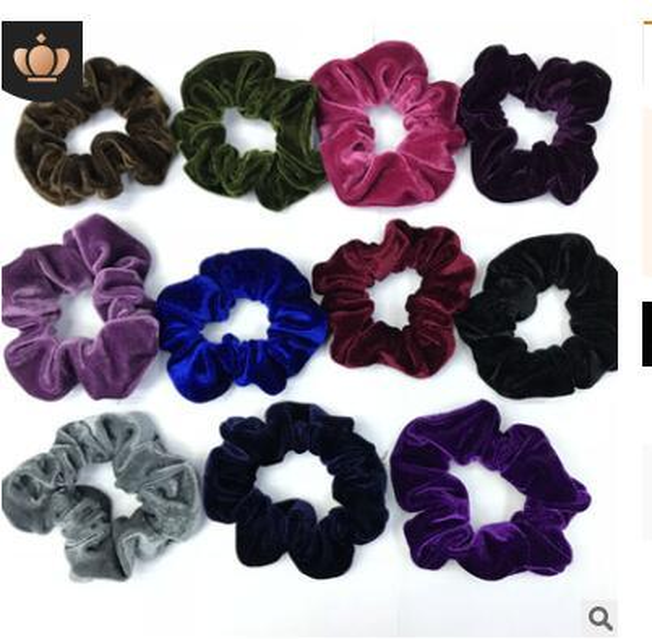 Velvet Elastic Hair Scrunchie Scrunchy Hairbands Head Band Ponytail Holder Girls princess accessories Hair Accessories gifts 389