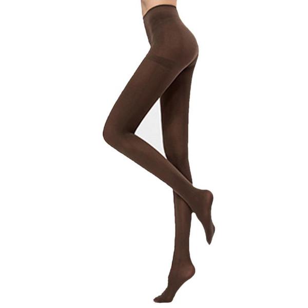 Tayt Kalem Pantolon Pantolon Alt Pantolon Kalın Külotlu Çorap Düz Renk Elastik Kuvvet Yüksek Bel Vahşi Rahat Soba Borusu