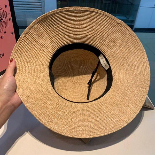 Luxury Straw Sun Hat For Women Men Unisex British Style Sunshade Beach Panama Jazz Top Hat Vintage Female Male 2019 Summer Vacation