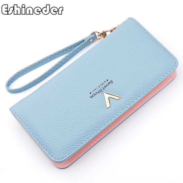 women long wallet purse wristband fashion coin purse card holder wallets female clutch money bag pu leather wallet drop shipping - from $18.87
