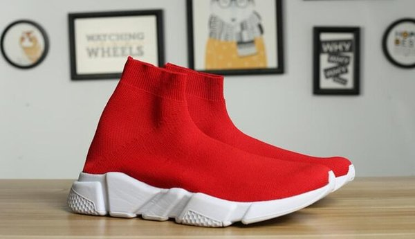 Designer Sock Shoes Speed Trainer Mens Women Boots Triple Black White Red Blue Casual Shoes Sock Race Runners Sports Luxury Shoes