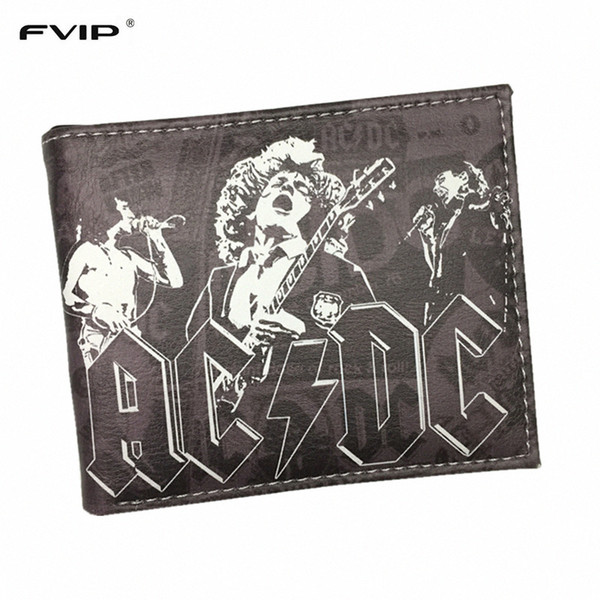 fvip wallet of classic rock and roll orchestra megadeth / /nirvana /gun's roses /the beatles and wallets, Red;black