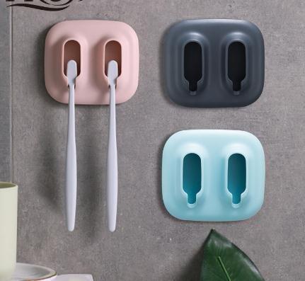 2 fentes porte-brosse à dents rack de stockage rasoir brosse à dents organisateur de salle de bain Accories sans punch