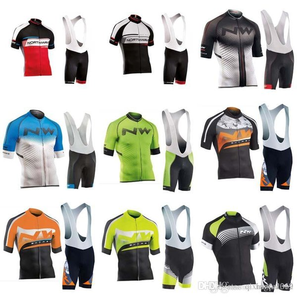2018 Men's NETAPP Cycling Jersey MTB Bike Clothing summer Short Sleeve Bicycle Clothing bib shorts sets cycling clothing C0732
