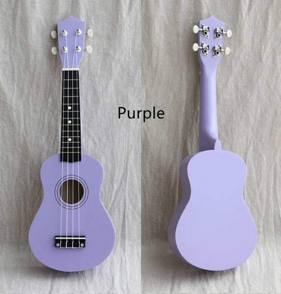 Ücretsiz nakliye 21 inç ahşap ukulele çocuk küçük gitar renk uklele başlayanlar müzik aletleri pratik başlarken