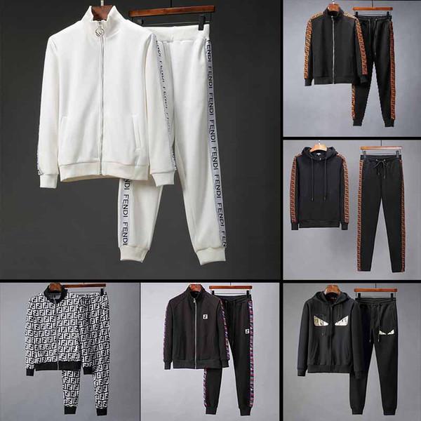 2018 fa hion de igner brand autumn winter men clothing men cotton track uit letter print embroidery ca ual port uit