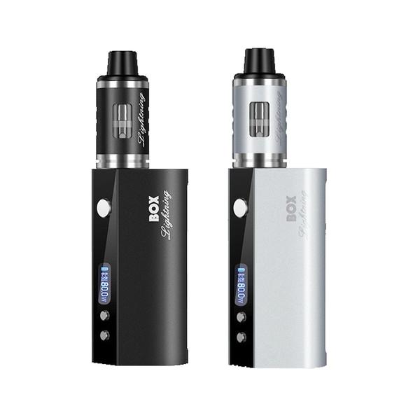 LXT 80W Electronic Cigarette Vape Mod 2600mAh Battery Box Mod 3ml 510 Glass Vape Tank Portable E Cigarettes Starter Kits