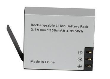 Reemplazo del cargador de batería Accesorios Soporte de base de enchufe 1050 mah 1350 mah para SJCAM SJ4000 SJ5000 sj8000 sj9000 H9 Go Pro Hero Sport Camera